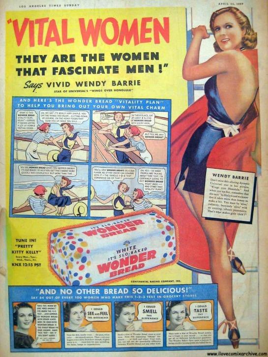 Wonder-Bread-Vital-Women-Comic-Strip-ad